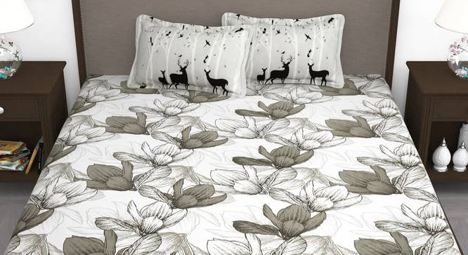 Avalon Bedsheet (White, King Size) by Urban Ladder - Front View Design 1 - 340747