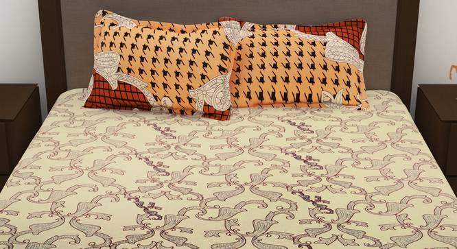 Aurora Bedsheet (Cream, Queen Size) by Urban Ladder - Front View Design 1 - 340748