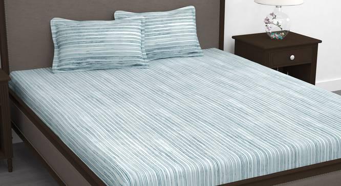 Evander Bedsheet (Blue, King Size) by Urban Ladder - Design 1 Full View - 340964