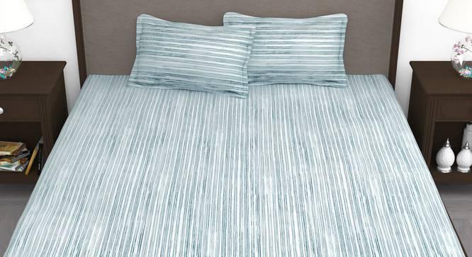 Evander Bedsheet (Blue, King Size) by Urban Ladder - Front View Design 1 - 340977