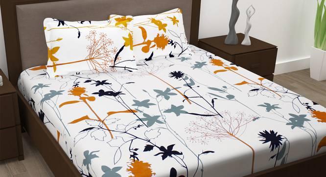 Hazel Bedsheet (White, Queen Size) by Urban Ladder - Design 1 Full View - 341125