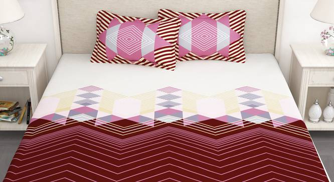 Greer Bedsheet (White, King Size) by Urban Ladder - Front View Design 1 - 341131