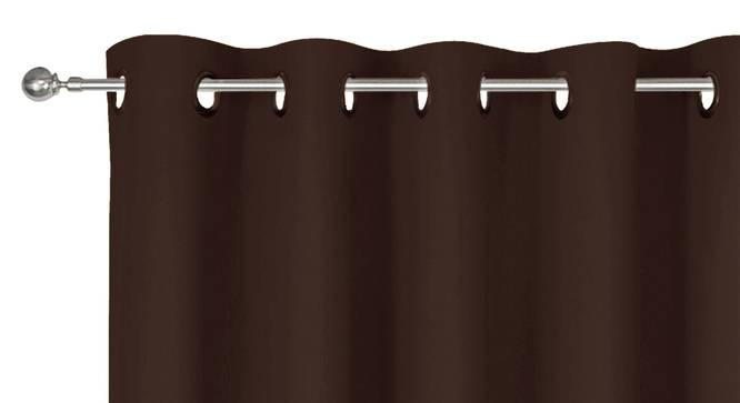 """Heather Window Curtain (Dark Brown, 152 x 117 cm  (60"""" x 46"""") Curtain Size) by Urban Ladder - Front View Design 1 - 341216"""