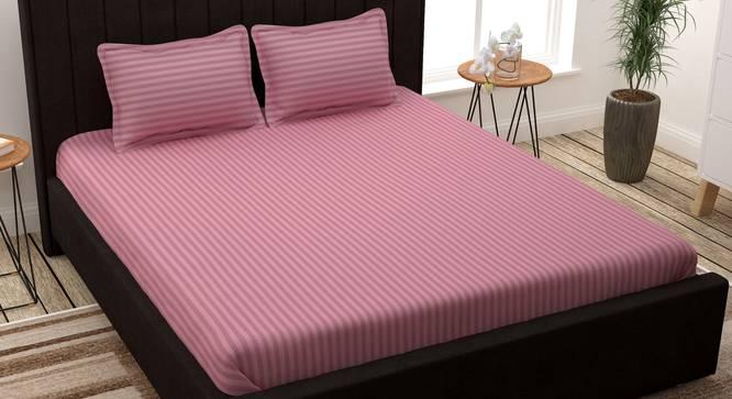 Kiwi Bedsheet (Peach, King Size) by Urban Ladder - Design 1 Full View - 341399