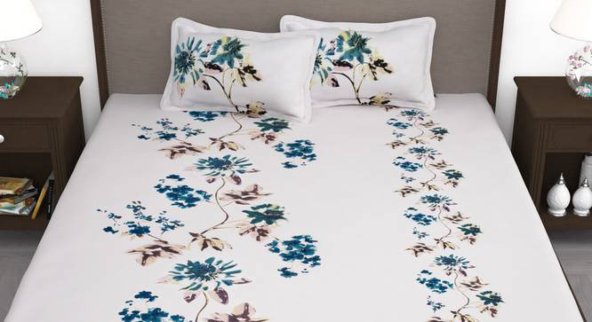 Moana Bedsheet (Pink, King Size) by Urban Ladder - Front View Design 1 - 341531