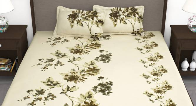 Sven Bedsheet (Pistachio Green, King Size) by Urban Ladder - Front View Design 1 - 341920