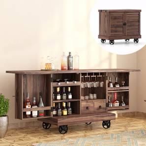 Caravan Trolley Bar Cabinet (Teak Finish) by Urban Ladder - Picture - 342040