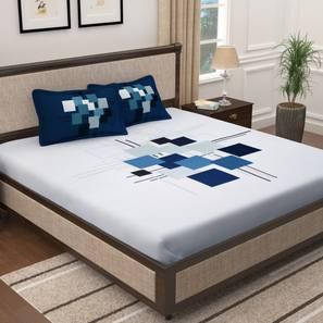 Everest bedsheet white   blue lp