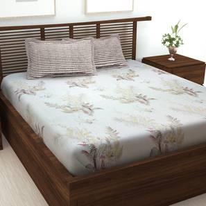 Meadow bedsheet white   brown lp
