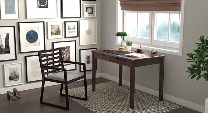 Hawley Study Chair (Mahogany Finish) by Urban Ladder - Design 1 Full View - 342276