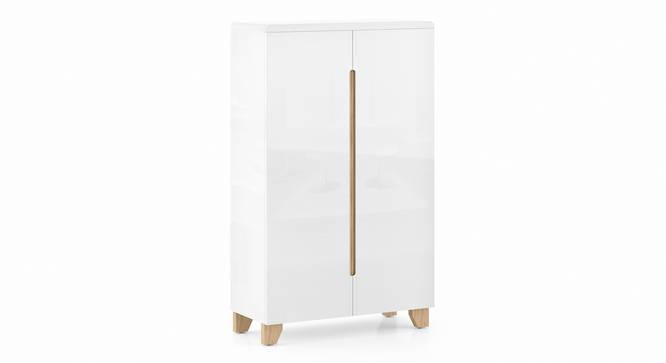 Oslo High Gloss Shoe Rack (White Finish, Two Door) by Urban Ladder - Cross View Design 1 - 346717