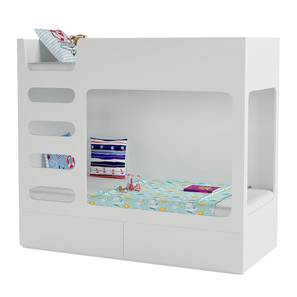 Cubby Bubby Storage Bunk Bed (White, Matte Finish) by Urban Ladder - Front View Design 1 - 347256