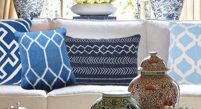 """Brendan Cushion Cover (Teal, 46 x 46 cm  (18"""" X 18"""") Cushion Size) by Urban Ladder - Design 1 Half View - 348601"""