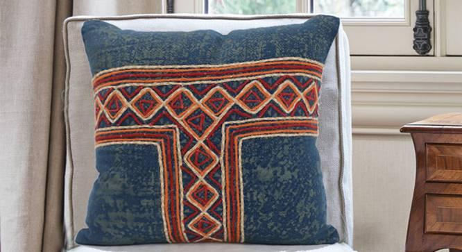 """Cillian Cushion Cover (46 x 46 cm  (18"""" X 18"""") Cushion Size) by Urban Ladder - Design 1 Half View - 348631"""