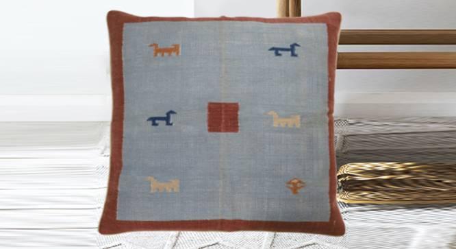 """Flynn Cushion Cover (Grey, 90 x 90 cm  (36"""" X 36"""") Cushion Size) by Urban Ladder - Design 1 Half View - 348731"""