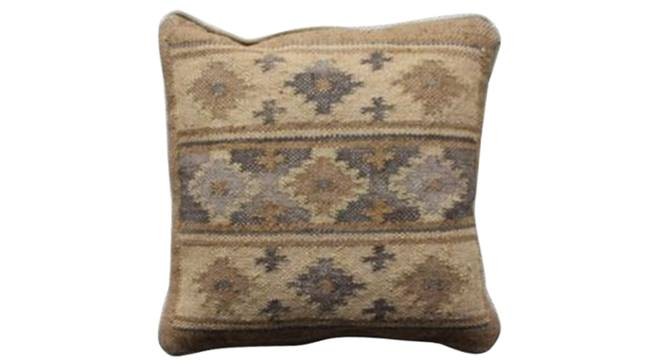 """Houston Cushion Cover (Natural, 46 x 46 cm  (18"""" X 18"""") Cushion Size) by Urban Ladder - Front View Design 1 - 348739"""