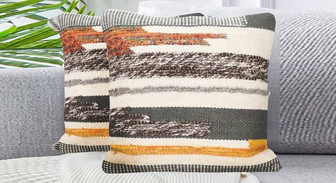"""Melvin Cushion Cover (56 x 56 cm  (22"""" X 22"""") Cushion Size) by Urban Ladder - Design 1 Half View - 348837"""