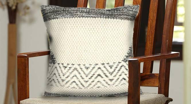 "Mike Cushion Cover (41 x 41 cm  (16"" X 16"") Cushion Size, Natural) by Urban Ladder - Design 1 Half View - 348838"