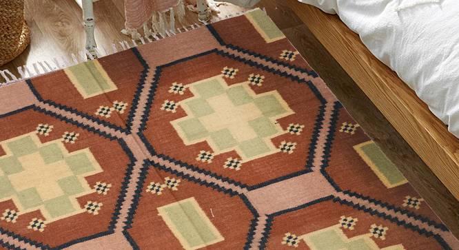 "Ryker Dhurrie (160 x 60 cm (63"" x 23"") Carpet Size) by Urban Ladder - Design 1 Half View - 348883"