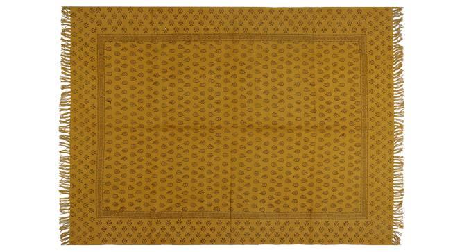 "Vann Dhurrie (Yellow, 150 x 210 cm  (59"" x 83"") Carpet Size) by Urban Ladder - Front View Design 1 - 348936"