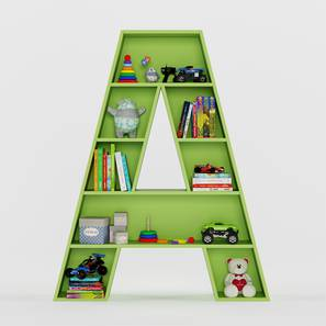 Abracadabra Bookshelf By Boingg! (Green, With Shelves Configuration, Matte Finish) by Urban Ladder - Design 1 Top Image - 349011