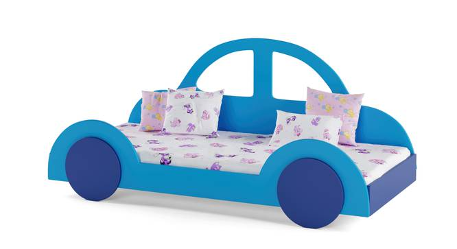 Beetle Bed By Boingg! (Blue, Matte Finish) by Urban Ladder - Design 1 Side View - 349015