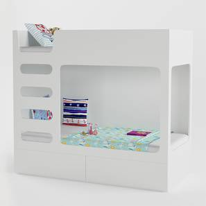Cubby Bubby Storage Bunk Bed By Boingg! (White, Matte Finish) by Urban Ladder - Front View Design 1 - 349136