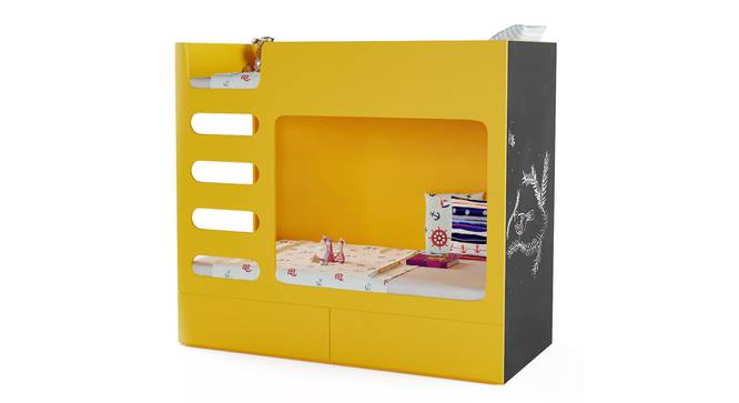 Cubby Bubby Storage Bunk Bed By Boingg! (Yellow, Matte Finish) by Urban Ladder - Design 1 Side View - 349147