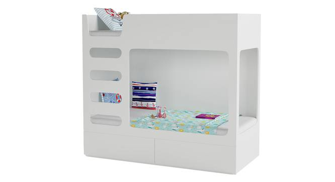 Cubby Bubby Storage Bunk Bed By Boingg! (White, Matte Finish) by Urban Ladder - Design 1 Side View - 349148