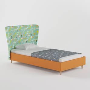 Doodle Bed By Boingg! (Orange, Matte Finish) by Urban Ladder - Design 1 Top Image - 349201
