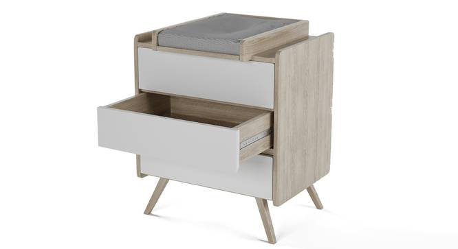 Cuckoo's Nest Changing Table By Boingg! (Oak, Matte Finish) by Urban Ladder - Design 1 Side View - 349221
