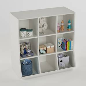 Hold All Bookshelf By Boingg! (White, With Shelves Configuration, Matte Finish) by Urban Ladder - Design 1 Side View - 349275