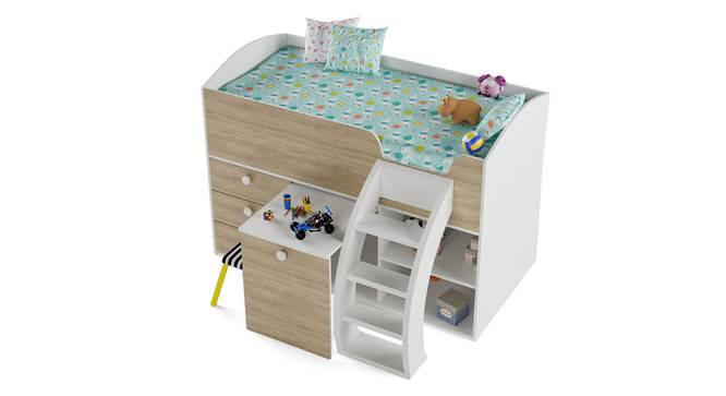 Fun House Loft Bed By Boingg! (White, Matte Finish) by Urban Ladder - Design 1 Top Image - 349274