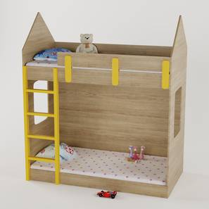 House Mates Bunk Bed By Boingg! (Oak, Matte Finish) by Urban Ladder - Front View Design 1 - 349354