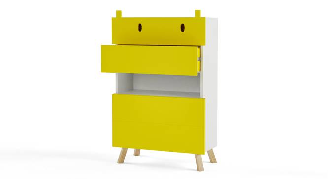 Papa Hippo Chest of Four Drawers By Boingg! (Yellow, Matte Finish) by Urban Ladder - Design 1 Side View - 349470