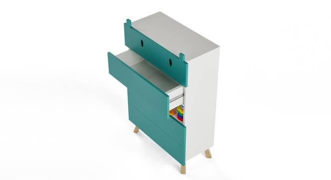 Papa Hippo Chest of Four Drawers By Boingg! (Teal, Matte Finish) by Urban Ladder - Design 1 Top Image - 349471