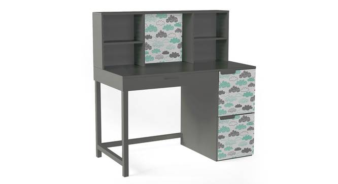 Pattern Play Study Table By Boingg! (Dark Grey, Matte Finish) by Urban Ladder - Design 1 Side View - 349476