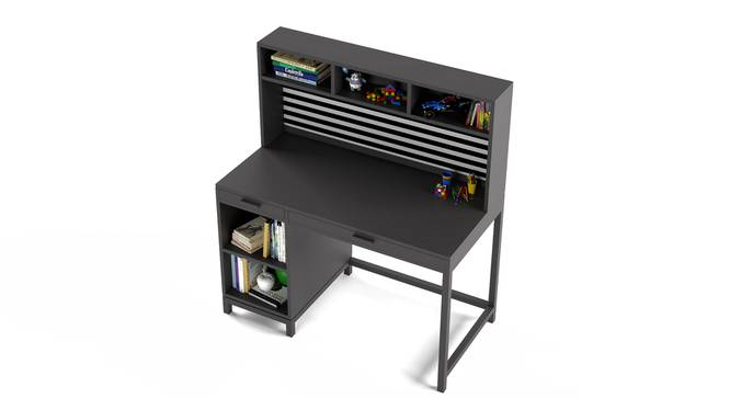 Old Timer Study Table By Boingg! (Dark Grey, Matte Finish) by Urban Ladder - Design 1 Top Image - 349477