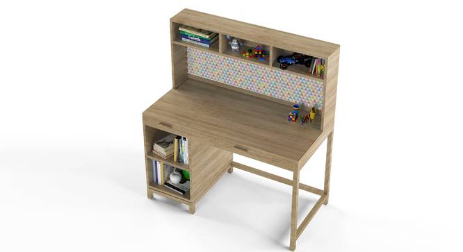 Old Timer Study Table By Boingg! (Oak, Matte Finish) by Urban Ladder - Design 1 Top Image - 349478
