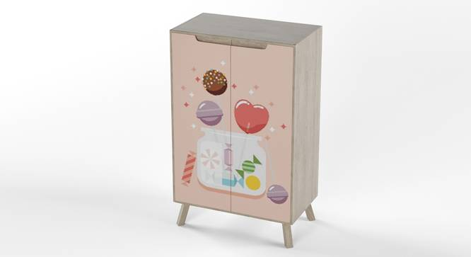 Picture Perfect Cabinet By Boingg! (Light Pink, Matte Finish) by Urban Ladder - Design 1 Side View - 349588