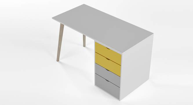 Philosopher Study Table By Boingg! (Yellow, Matte Finish) by Urban Ladder - Design 1 Top Image - 349592