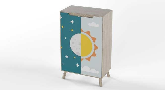 Picture Perfect Cabinet By Boingg! (Multi Colour, Matte Finish) by Urban Ladder - Design 1 Side View - 349596