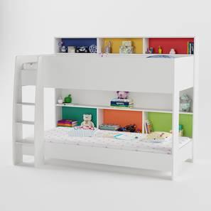 Rainbow storage bunk bed white 19 lp