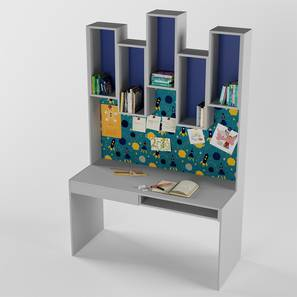 Roller Coaster Study Table By Boingg! (Light Grey, Matte Finish) by Urban Ladder - Design 1 Side View - 349667