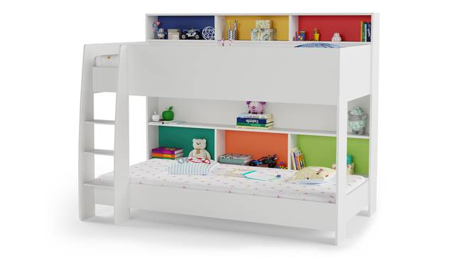 Rainbow Storage Bunk Bed By Boingg! (White, Matte Finish) by Urban Ladder - Design 1 Side View - 349660