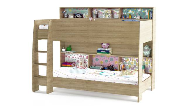 Rainbow Bunk Bed By Boingg! (Oak, Matte Finish) by Urban Ladder - Design 1 Side View - 349670