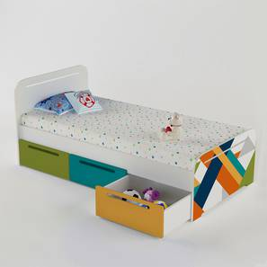 Simply Perfect Storage Bed By Boingg! (Matte Finish) by Urban Ladder - Design 1 Side View - 349711