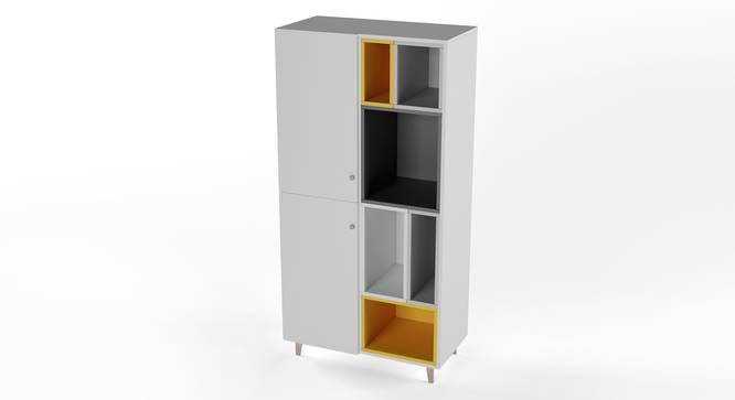 Tetris Wardrobe By Boingg! (White, Matte Finish) by Urban Ladder - Design 1 Side View - 349793