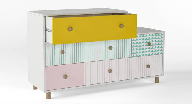 Untangled Chest of Five Drawers By Boingg! (Matte Finish) by Urban Ladder - Design 1 Side View - 349803
