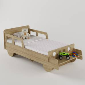 Vroom Bed By Boingg! (Oak, Matte Finish) by Urban Ladder - Design 1 Side View - 349871